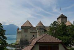 Chillon castle. Chillon on lake Geneva near Montreux stock photos