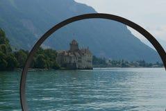 Chillon castle. Chillon on lake Geneva near Montreux royalty free stock photos