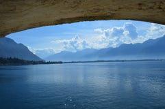 Chillon Schloss Stockfotografie