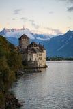 Chillon Schloss Stockbild