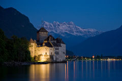Chillon Schloss Stockfotografie