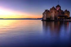 Chillon Schloss, die Schweiz Stockbild