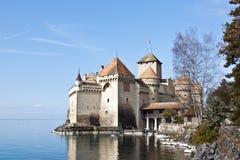 Chillon Schloss, Geneva See, die Schweiz Lizenzfreies Stockfoto