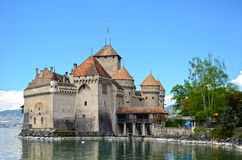 Chillon Schloss in Genf stockfotos