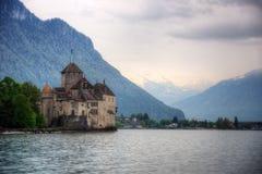 Chillon-Schloss Genfersee Lizenzfreie Stockfotografie