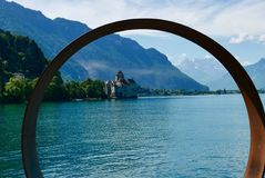 Chillon Schloss in Montreux Stockfoto
