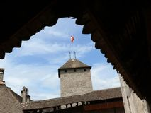 Chillon schweizare 08/02/2009 rockera chillon arkivfoton