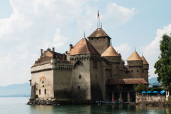 Chillon slott Royaltyfri Bild