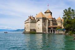Chillon slottlandskap Fotografering för Bildbyråer
