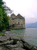 Chillonkasteel in Montreux, Zwitserland Royalty-vrije Stock Fotografie