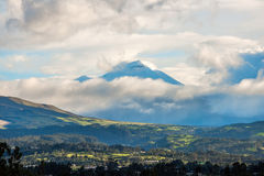 Chillos Valley and Volcano Cotopaxi, Ecuador Stock Image