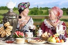 Chillout с чаем Стоковое фото RF