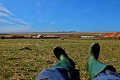 Chillout del granjero Imagen de archivo