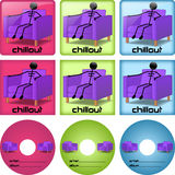 Chillout disc covers Stock Photography