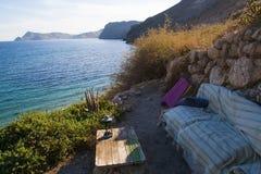 Chillout en el mar Mediterráneo Imágenes de archivo libres de regalías