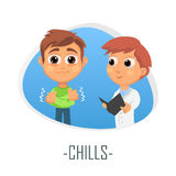 Chills medical concept. Vector illustration. Stock Photo