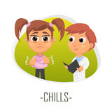Chills medical concept. Vector illustration. Stock Photos