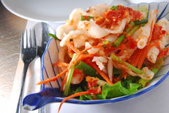 Chilly chicken paw. Thai chilly chicken paw salad stock images
