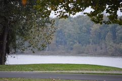 Chilly Riverfront. Chilly fall day on the riverfront in Brandenburg, KY stock image