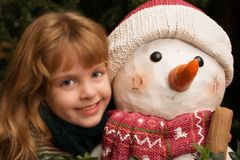 Chilly Hug Royalty Free Stock Images