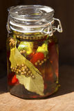 Chilly peppers in a jar Stock Photography