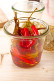 Chilly peppers Stock Images
