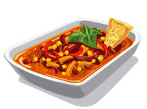 Chilly spicy con carne Stock Photos