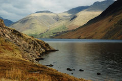 A chilly Wast Water. Wast Water looking East into the mountains Royalty Free Stock Photo