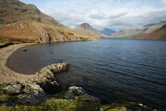 A chilly Wast Water. Wast Water looking East into the mountains Stock Image