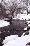Chilly Winter Stream stock photography