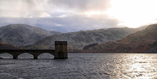 Chilly winters day on Haweswater Reservoir. Cool winter light on Haweswater Reservoir, England royalty free stock photography