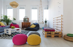 Chillzone in apartment Stock Images