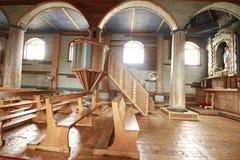 Chiloe Чили - деревянная церковь стоковые изображения