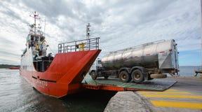 Chiloe Island ferry stock image