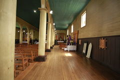Chiloe o Chile - igreja de madeira foto de stock royalty free