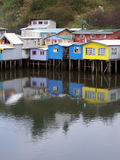 chiloe palafitos 图库摄影