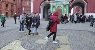 Chilometro zero a Mosca video d archivio