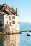 Chilon castle in Switzerland Stock Images