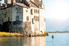 Chilon castle in Switzerland Royalty Free Stock Image