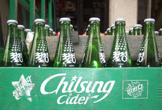 Chilsung Cider Royalty Free Stock Photos
