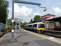 Chiltern Line Class 165 Turbo diesel train at Rickmansworth Station royalty free stock photography
