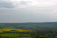 Chilterns landscape. View from Whiteleaf, Princess Risborough. Royalty Free Stock Photography