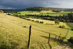 Chilterns before the strom Stock Photos