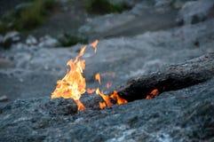 Chimère de bâti, flammes éternelles (Turquie) images stock