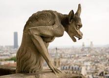 Chimère de Notre Dame de Paris. photographie stock libre de droits