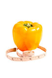 Chimère visuelle d'un mélange de tomate et de poivre Photo libre de droits