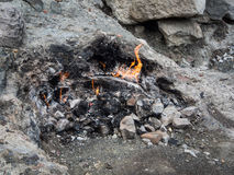 Chimaera eternal flame. At Olympos mountain, Turkey Royalty Free Stock Images