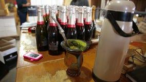 Chimarrão break wine labeling Royalty Free Stock Photos