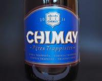 Chimay blue beer bottle Stock Photo