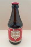 Chimay brown ale beer Stock Photo